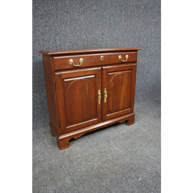 Harden Furniture Harden Chippendale Style Cherry Console Cabinet For Sale - Image 4 of 8