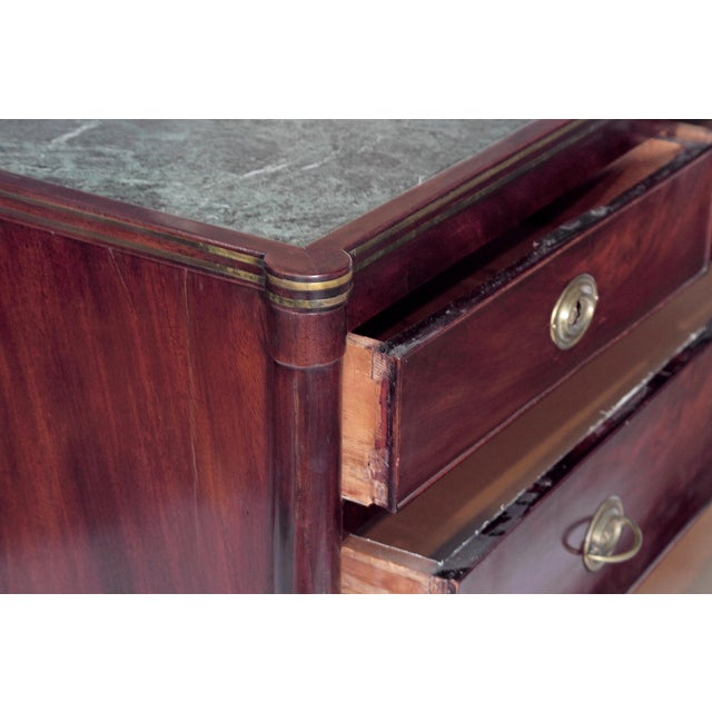 Neoclassical Chests of Drawers with Marble Tops / PAIR - Image 5 of 11