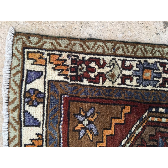 Thick and Heavy and Hearty Persian Kourdish Rug - 3′5″ × 6′5″ - Image 8 of 9
