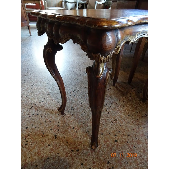 Brown 19th Century Portuguese Side Table For Sale - Image 8 of 11