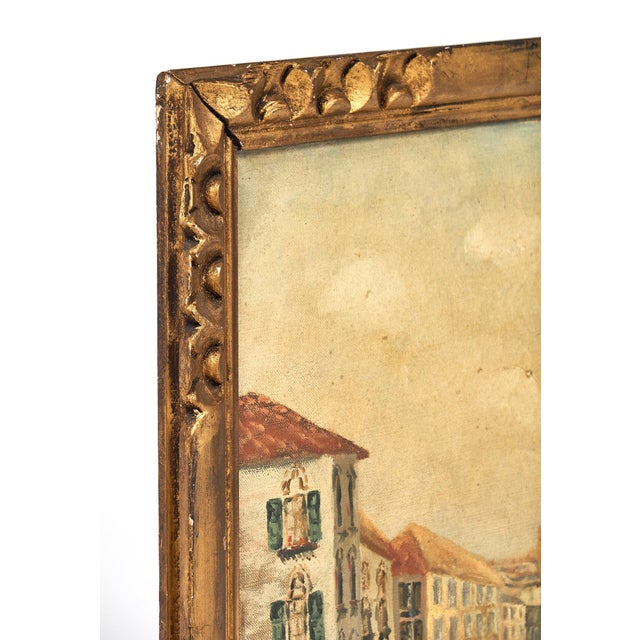 Impressionism Antique Oil on Canvas of Venice For Sale - Image 3 of 10