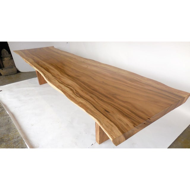 Long Live Edge Organic Modern Albezia Table For Sale - Image 11 of 11