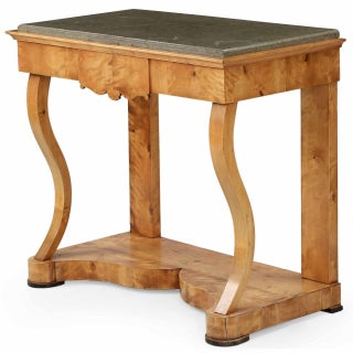 Empire Birch Marble Top Pier Table