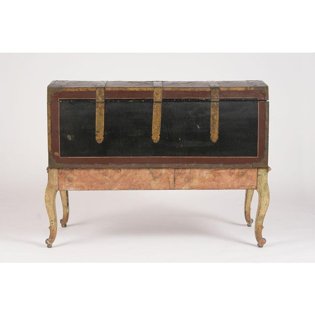 Mid 19th Century Spanish Chinoiserie Trunk For Sale - Image 10 of 13