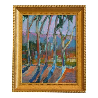 Juan Pepe Guzman Santa Barbara Abstract Landscape Oil Painting For Sale