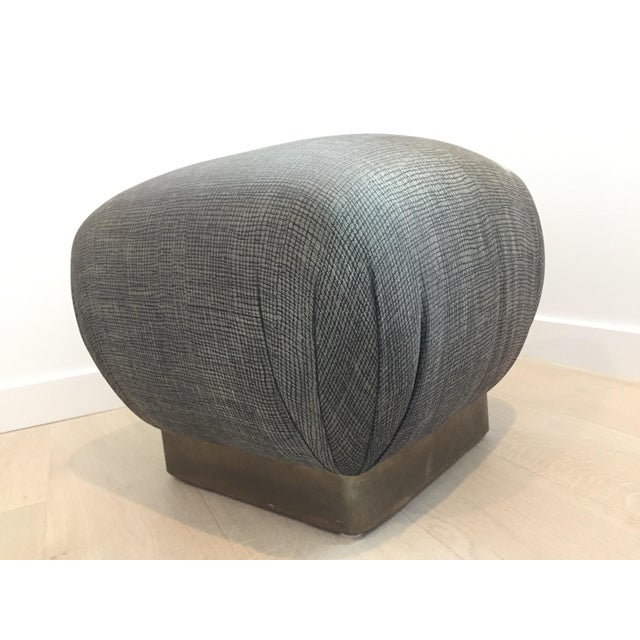 Pouf-Style Brown Ottomans - A Pair - Image 3 of 7