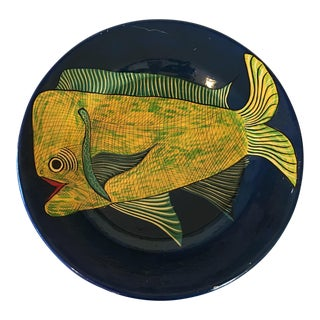 Hand Painted Large Fish Mexico Wall Plate