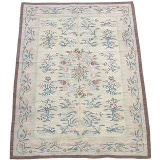 Early-19th Century Antique Eastern Europe Bessarabian Flat Weave Rug 8'9'' X 6'ft For Sale