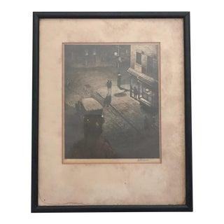 """Speakeasy Corner"" Martin Lewis Print"