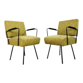 Mid Century Art Deco Lounge Armchairs - a Pair For Sale