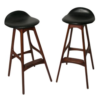 Erik Buch Bar Stools -- A Pair For Sale