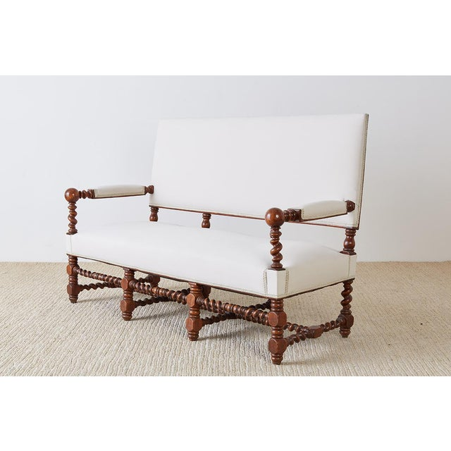 19th Century English Barley Twist Sofa Settee For Sale - Image 4 of 13