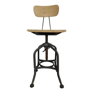 Vintage Toledo Adjustable Swivel Stool For Sale