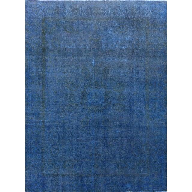 "Blue Vintage Overdyed Rug - 9'5"" X 12'9"" - Image 1 of 3"