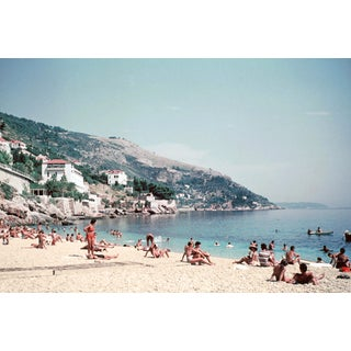 1960s Europe Dubrovnik Croatia Beach Excelsior Hotel Photographic Print For Sale