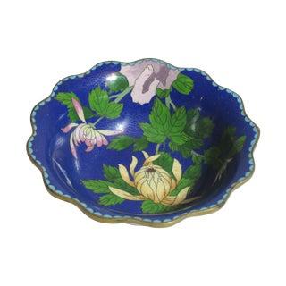 Scalloped Cloisonné Bowl For Sale