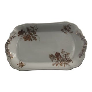 1940s French Limoge Holiday Serving Platter For Sale