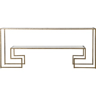 Contemporary Beaumont Brass Iron Console For Sale