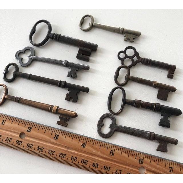 Metal Set of 9 Antique & Vintage Keys For Sale - Image 7 of 13
