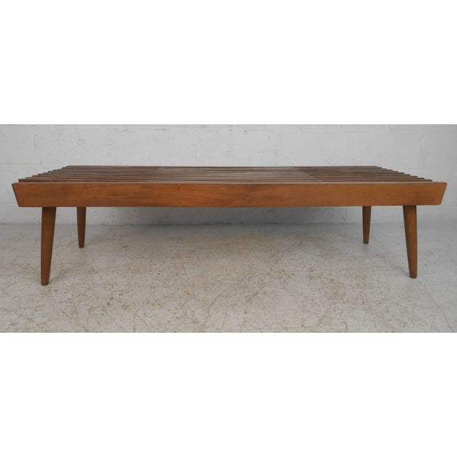 Vintage Expanding Slat Coffee Table