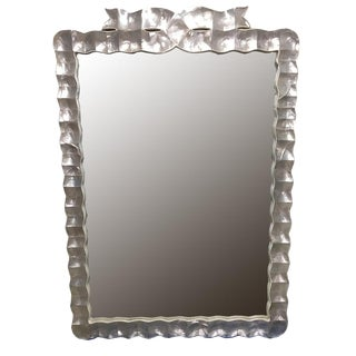 Large Shell and Acrylic Frame Wall Mirror