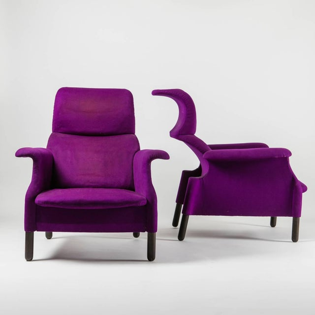 """Pair of """"Sanluca"""" Lounge Chairs by Castiglioni for Gavina For Sale - Image 6 of 10"""