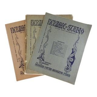 1901 Keramic Studio Designers Magazines - Set of 3 For Sale