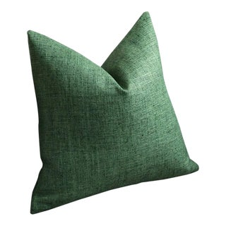 Dark Green Woven Pillow Cover 20x20 For Sale