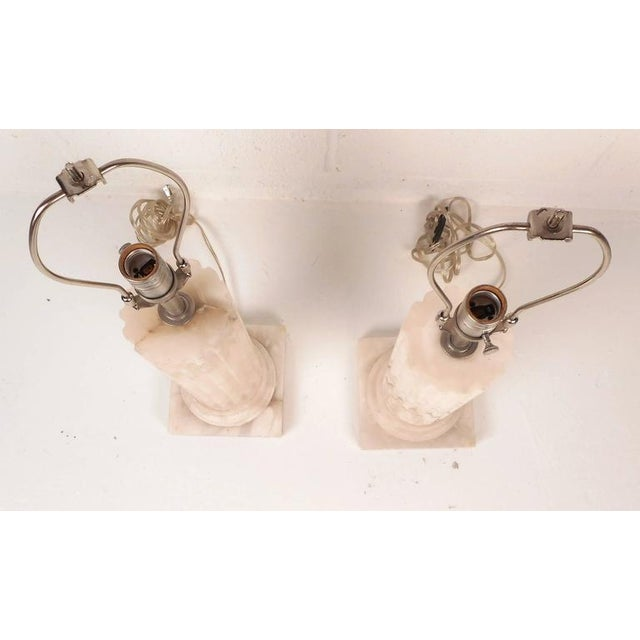 Mid-Century Modern Mid-Century Modern Marble Pedestal Lamps - a Pair For Sale - Image 3 of 6