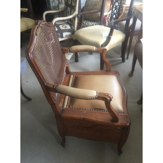 Late 18th Century 18th Century French Country Walnut Commode Potty Chair For Sale - Image 5 of 12