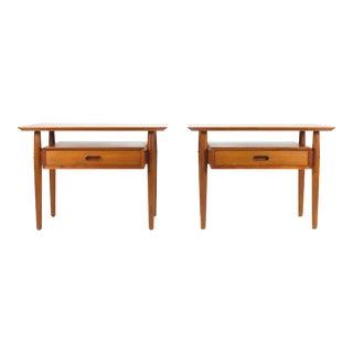 Danish Modern Teak Nightstands by Arne Vodder-A Pair For Sale