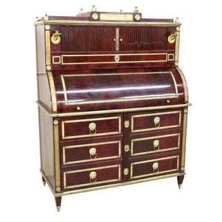 Antique Russian Neoclassical Style Cylinder Desk For Sale