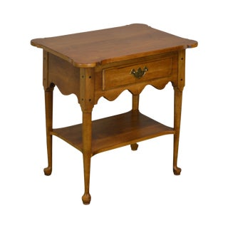 Ethan Allen Circa 1776 Collection One Drawer Maple Side Table or Nightstand For Sale