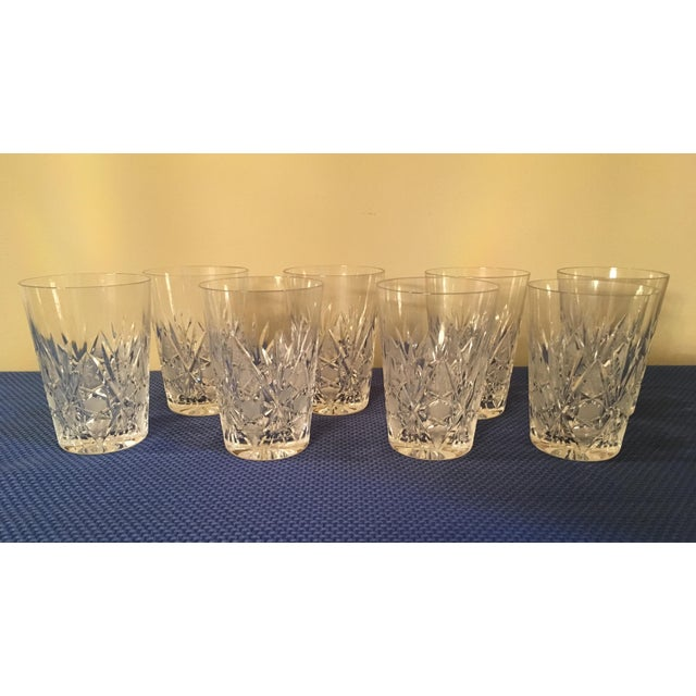 Vintage crystal tumblers, water set of 8. Bought in Europe in the 60's.