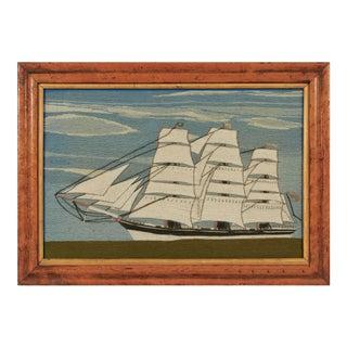 British Sailor's Woolwork of a Ship, Circa 1865-85.