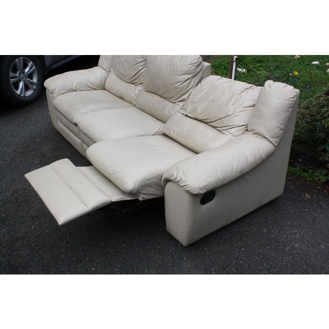 Modern Natuzzi Vito Royce Italian Leather Sofa   Chairish