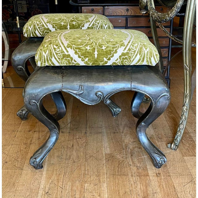 Antique 19c Carved Venetian Stools - a Pair For Sale - Image 4 of 5