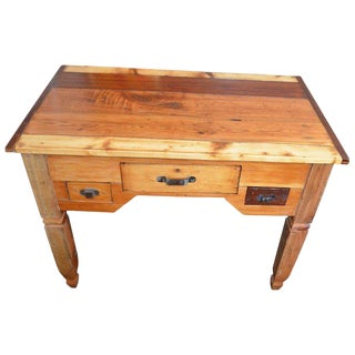 Potting Table, Hall, Host Table Handcrafted of Five Old-Growth Woods, Circa 1880