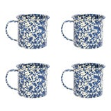 Image of Crow Canyon Home Splatterware Mugs 12 oz. in Navy & Cream Marble - Set of 4 For Sale