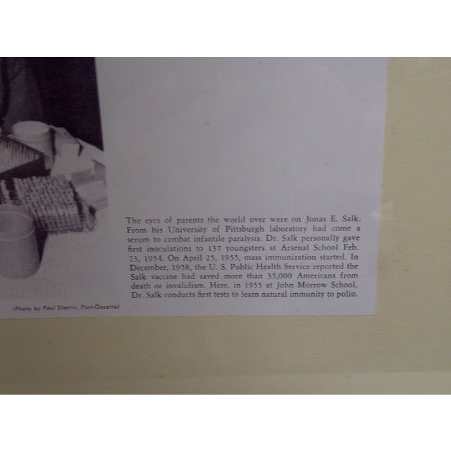 Jonas Salk Autograph & Photograph For Sale - Image 4 of 6
