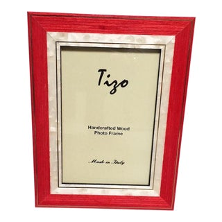 Orange Red Tizo Wood Frame For Sale