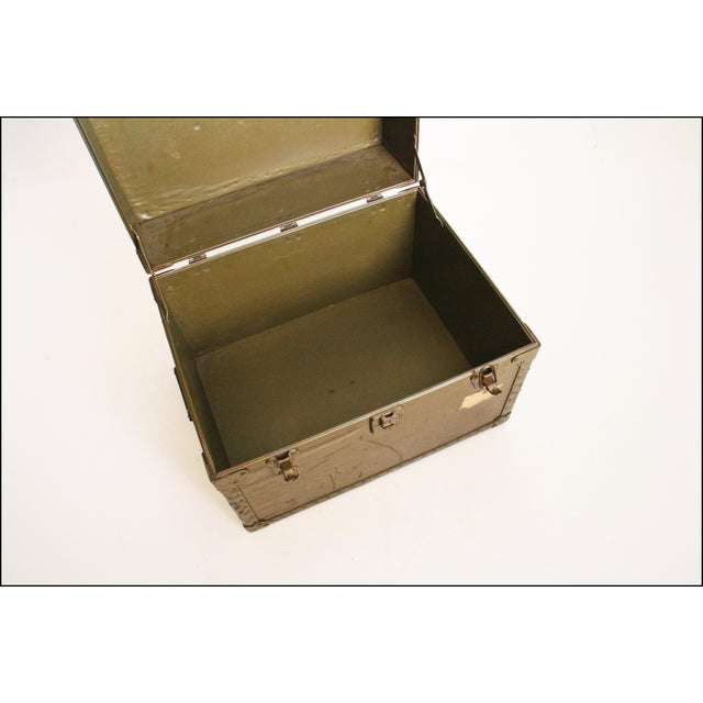 Vintage Industrial Green Military Hard Case - Image 9 of 11