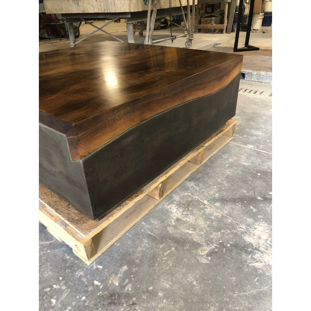 Organic Modern Folded Live Edge Coffee Table For Sale - Image 4 of 6