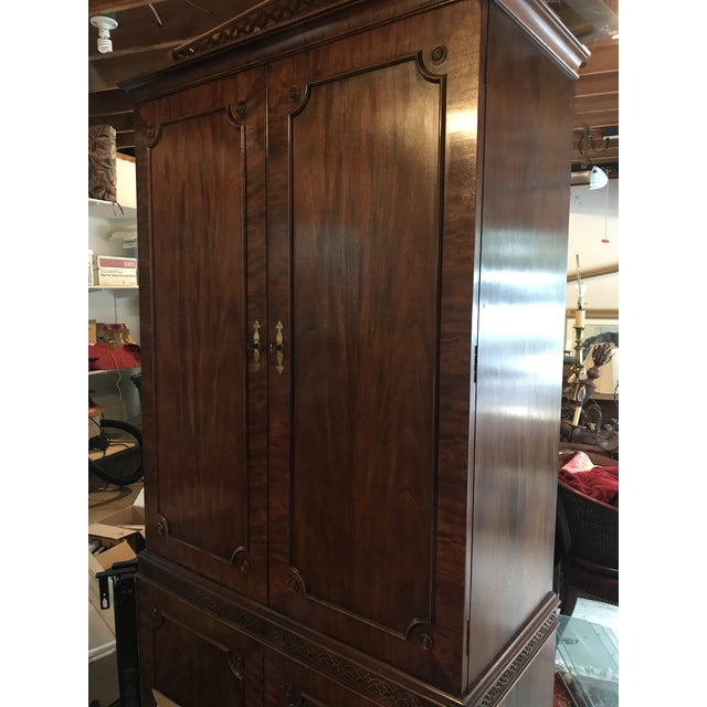 Vintage Century Cherry Wood Bar Armoire Cabinet - Image 11 of 11