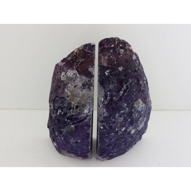 Purple Geode Bookends - A Pair - Image 4 of 7