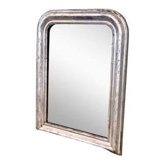 French Louis Philippe Silver Mirror For Sale