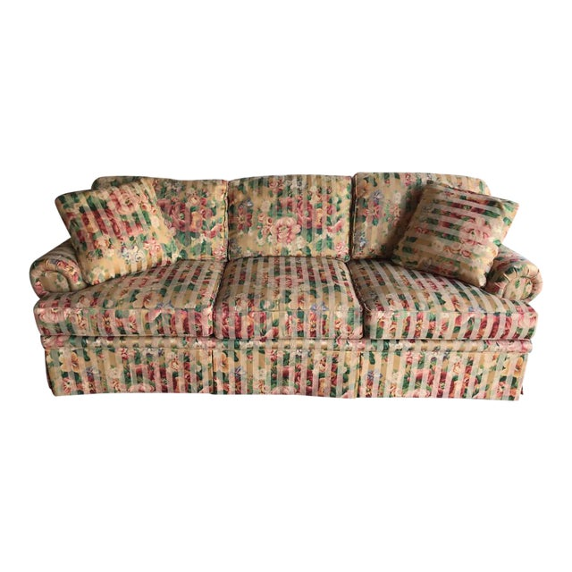 Contemporary Floral Sofa For Sale