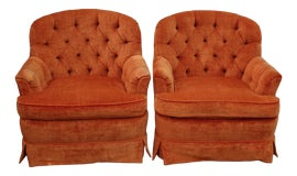 Image of Orange Club Chairs