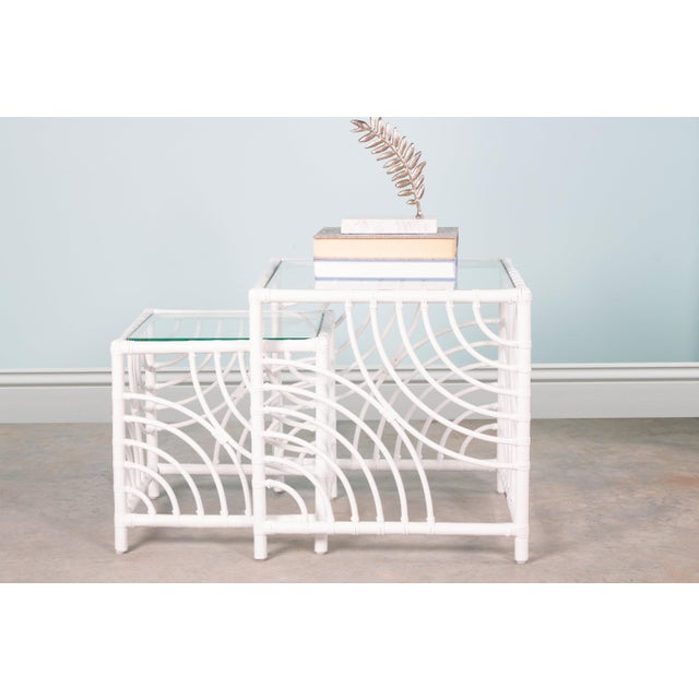 Swirl Nesting Tables - White For Sale In West Palm - Image 6 of 7