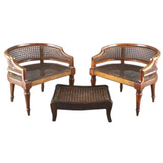 Absolutely Adorable Pair of English Regency Childs Bergeres For Sale
